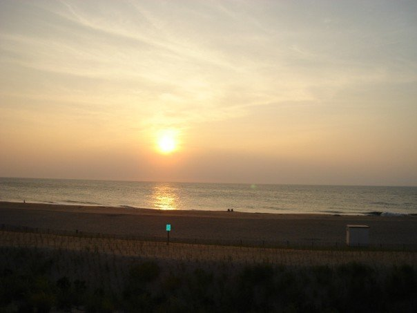 The coastline of Fenwick Island, DE...isn't it gorgeoso? This was the view from our apartment!