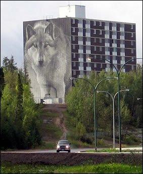 Wolf Mural