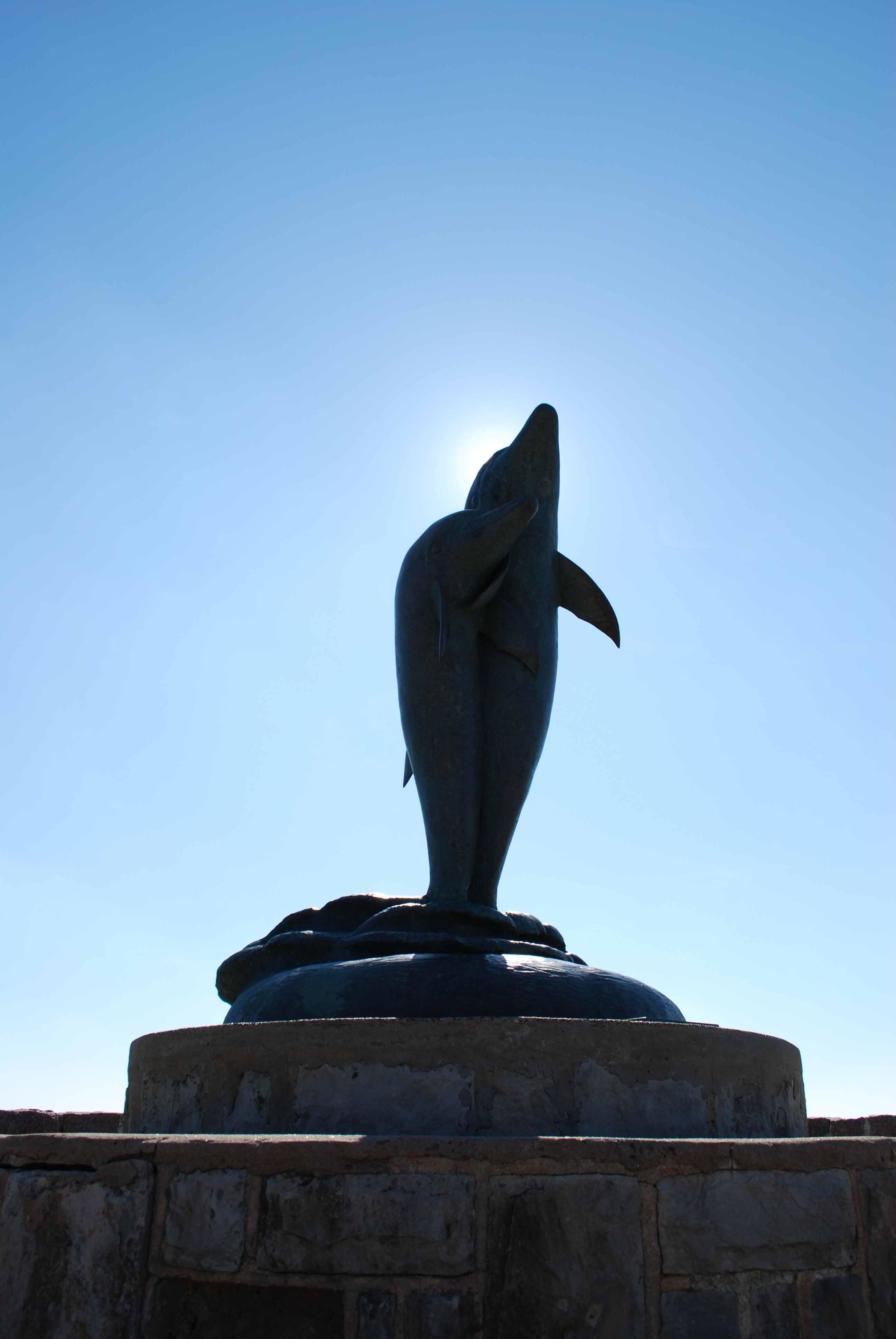 Dolphin Statue on Seawall Blvd