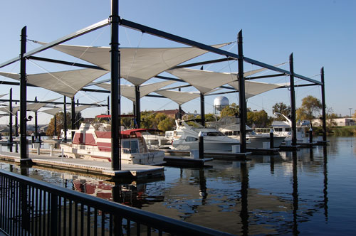 ‪Downtown Stockton Marina and Joan Darrah Promenade‬