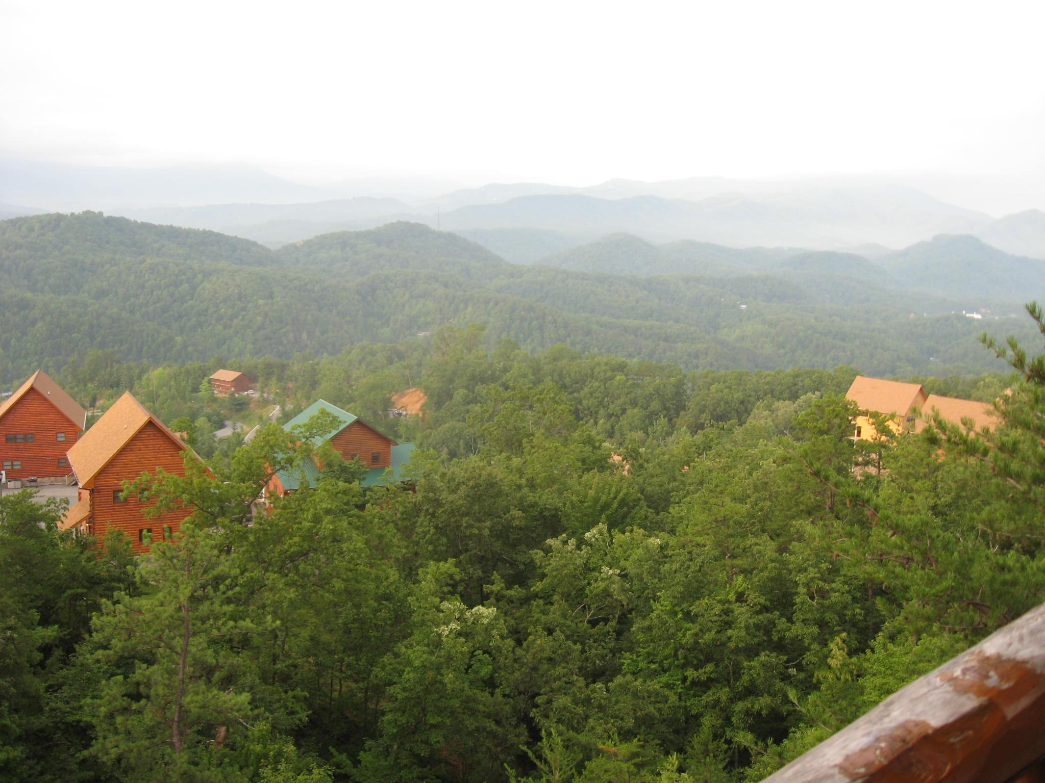 View from one of Mountaintop Lodge decks