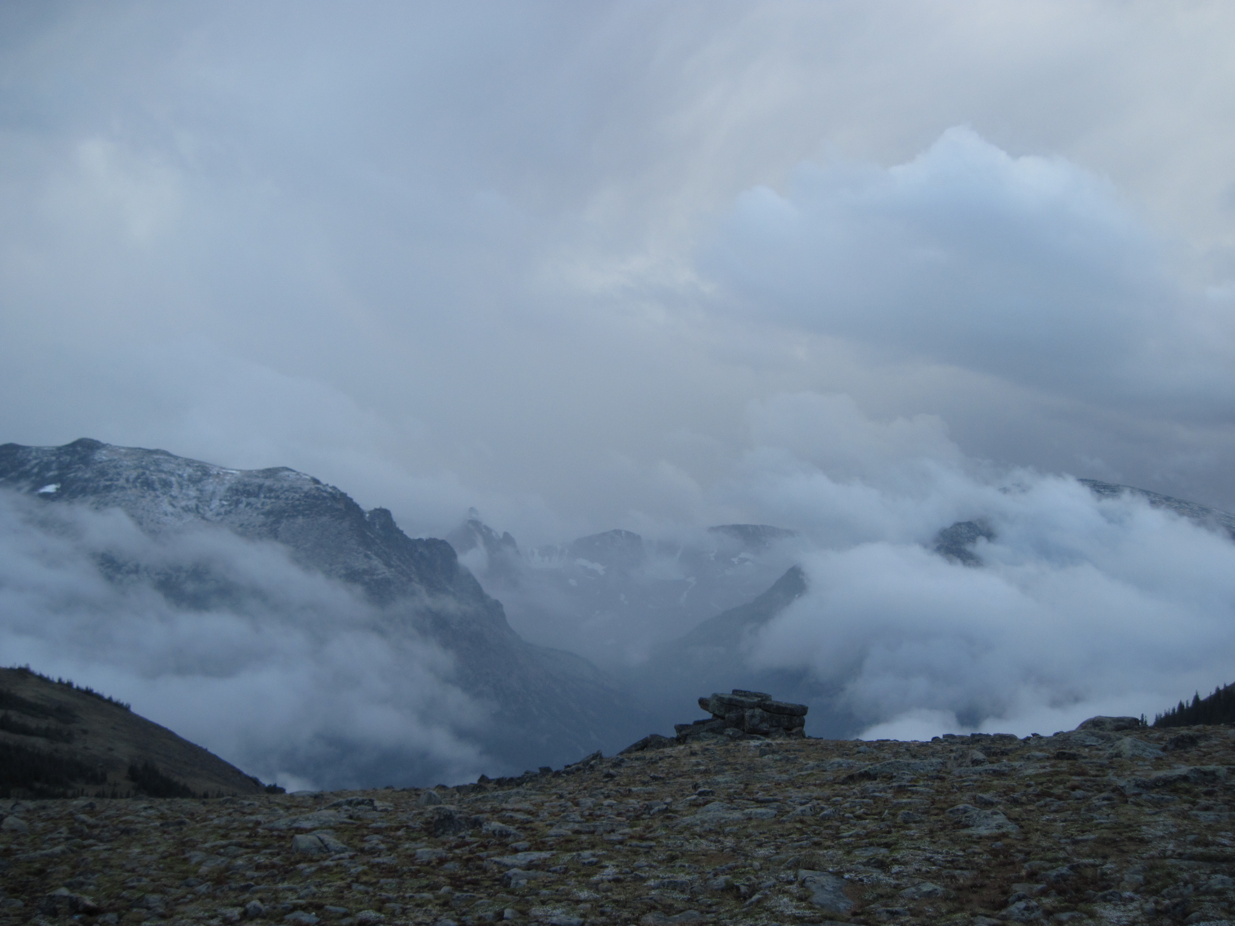 A sudden September storm brings snow along the Ute Trail.