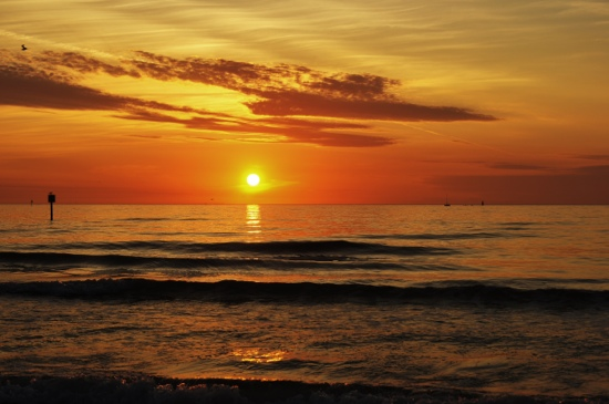 Clearwater Beach sunset 2/14/12