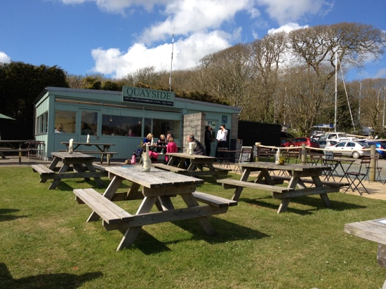 Image Quayside Lawrenny Tearoom in West Wales