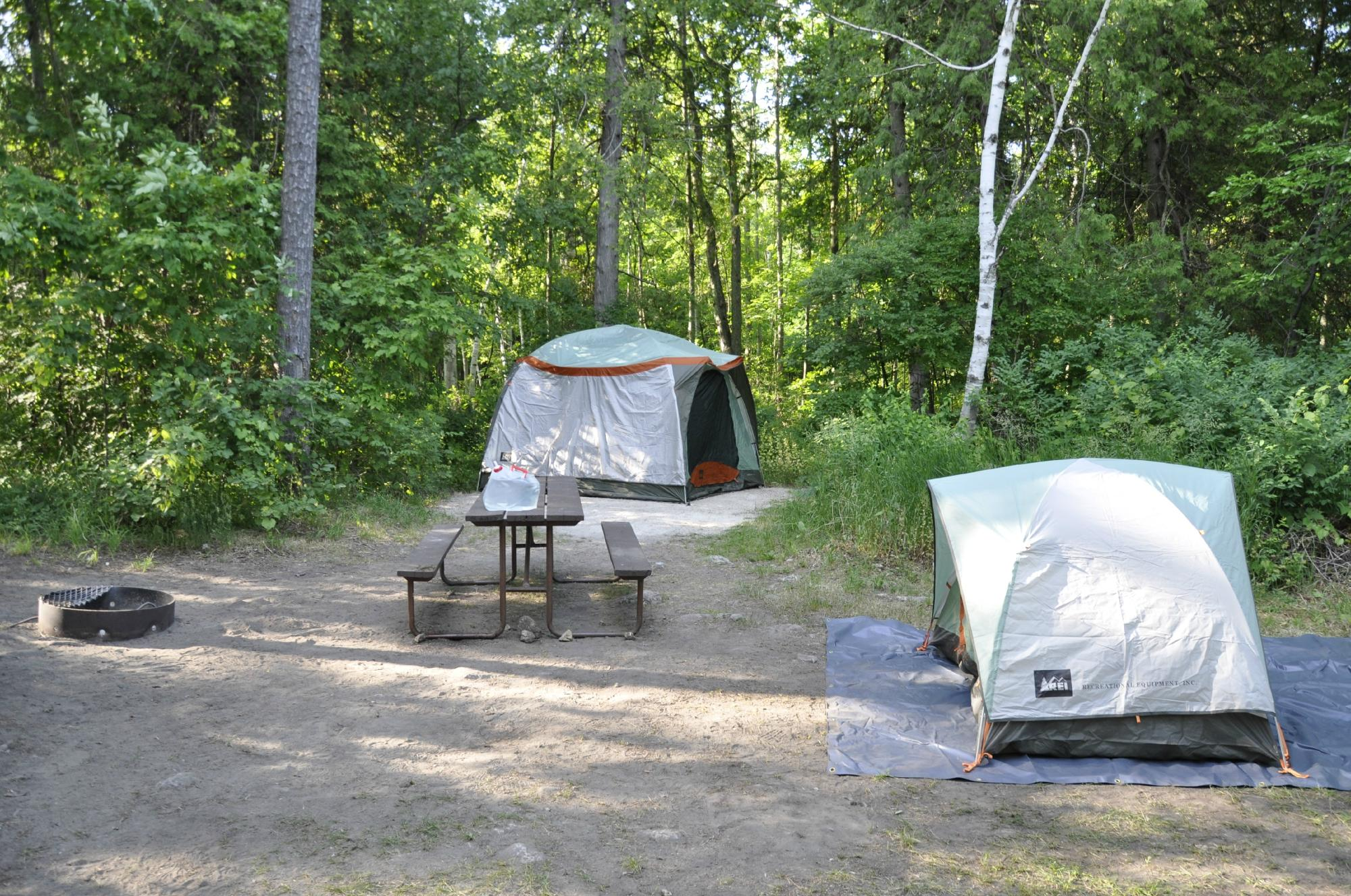 Campground at Peninsula State Park