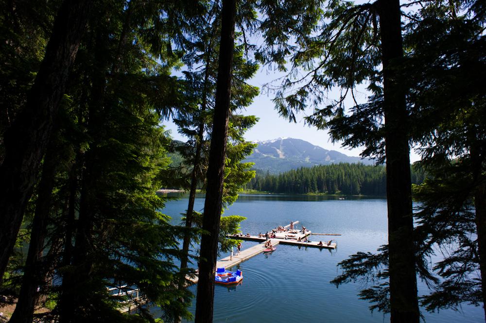 Sunny Lake View at Lost Lake.