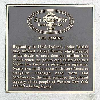 Irish Famine Memorial