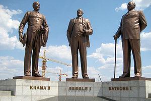 Three Chiefs' Statues