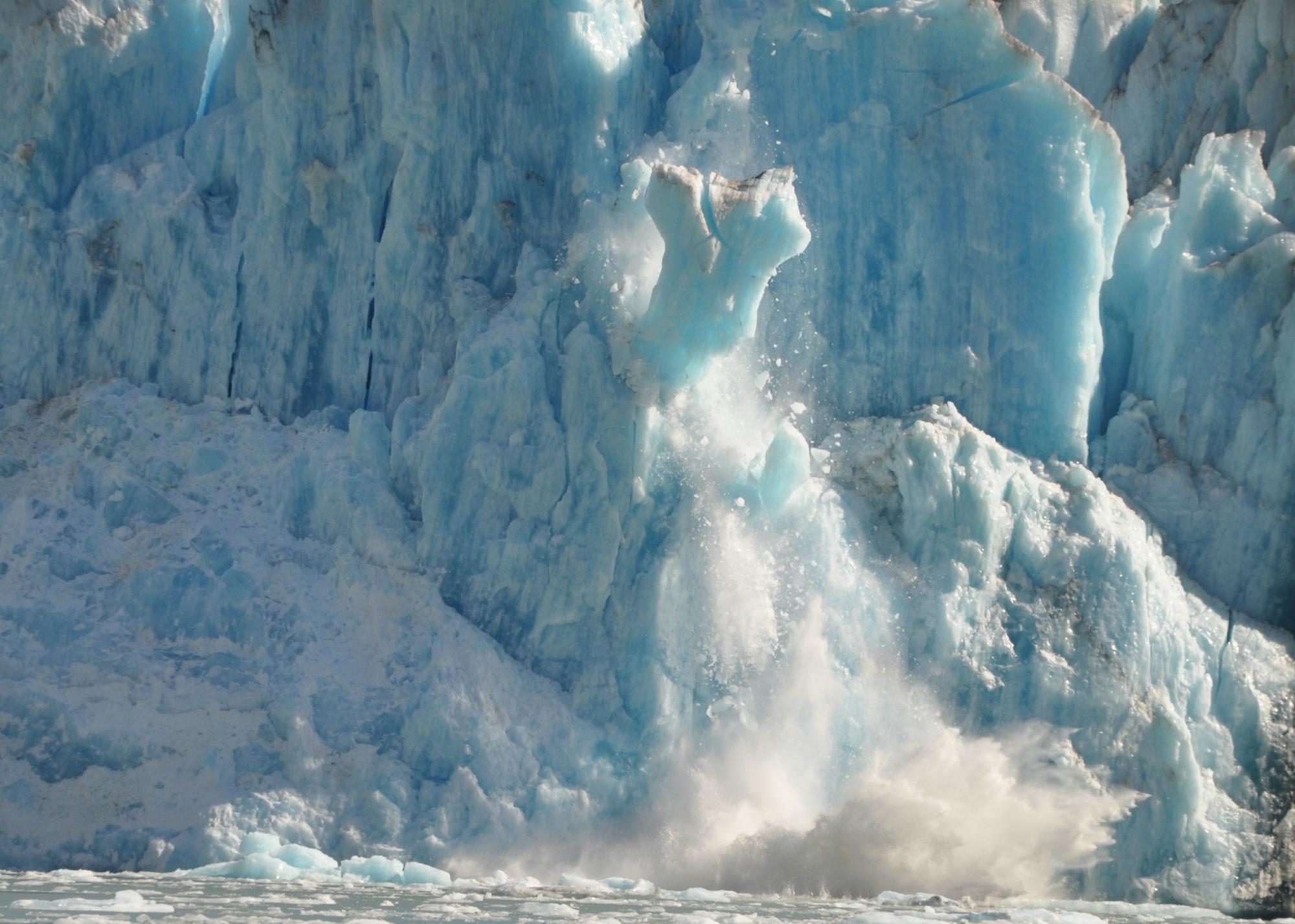 Calving glacier/Endicott Sound