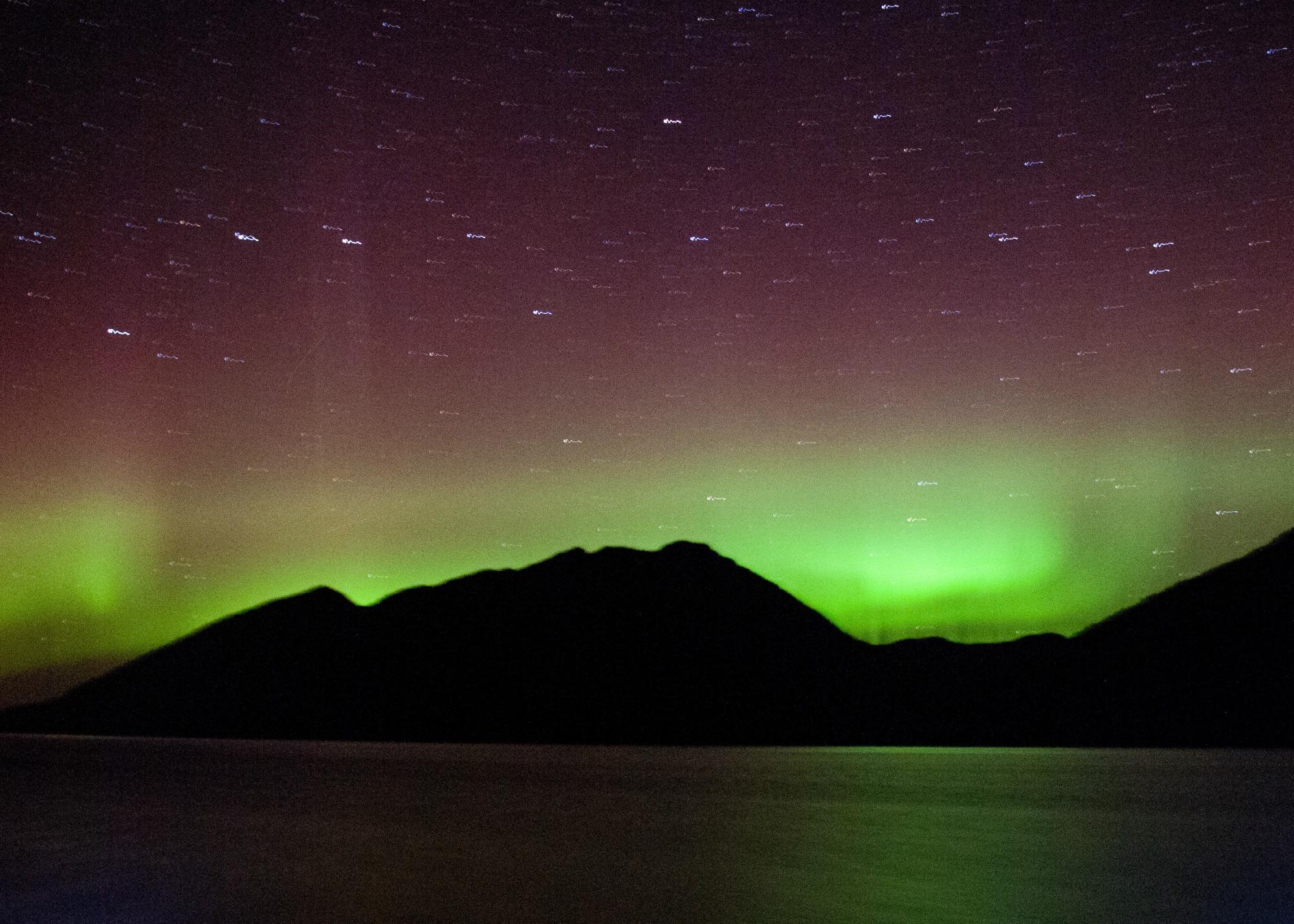 Aurora borealis/crew photo