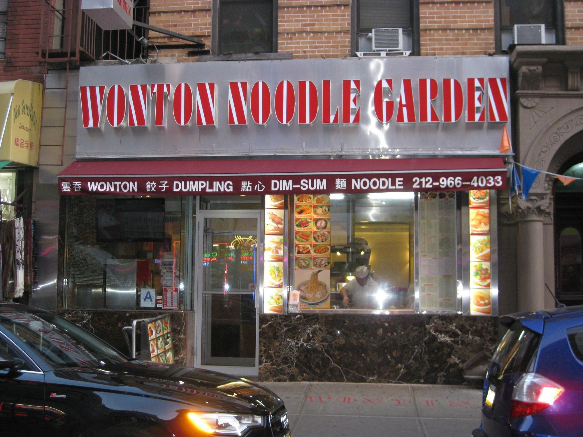 Wonton Noodle Garden New York City Chinatown