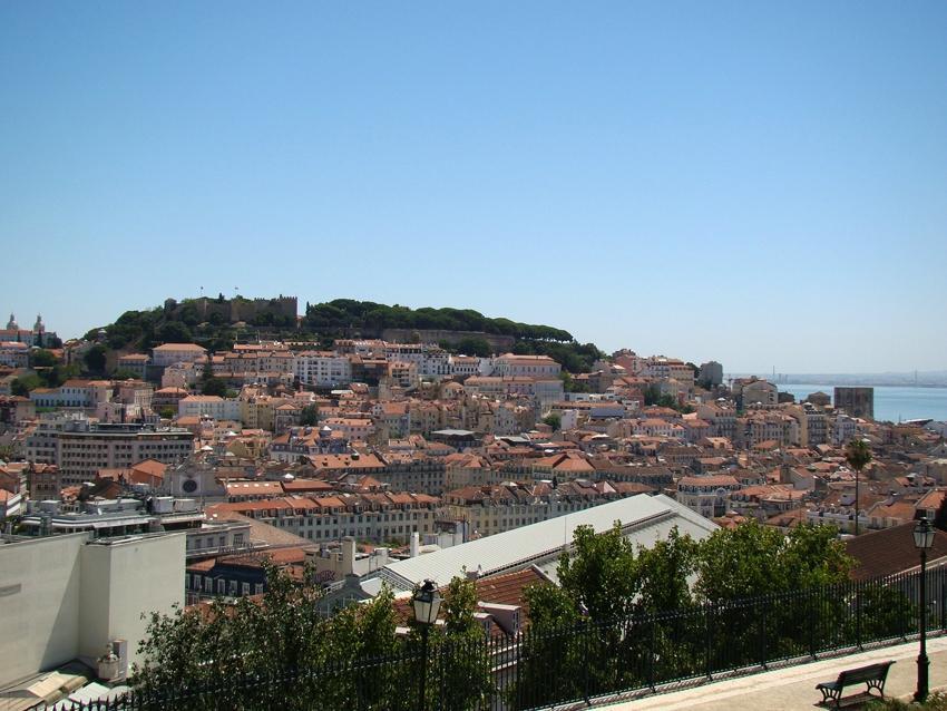 Resultado de imagem para Panorâmica linda em largo horizonte em Lisboa