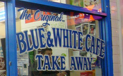 Blue & White Cafe