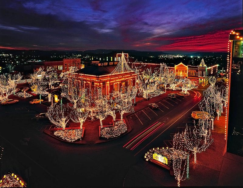 Enter the dazzling winter wonderland of lights on the downtown square beginnin