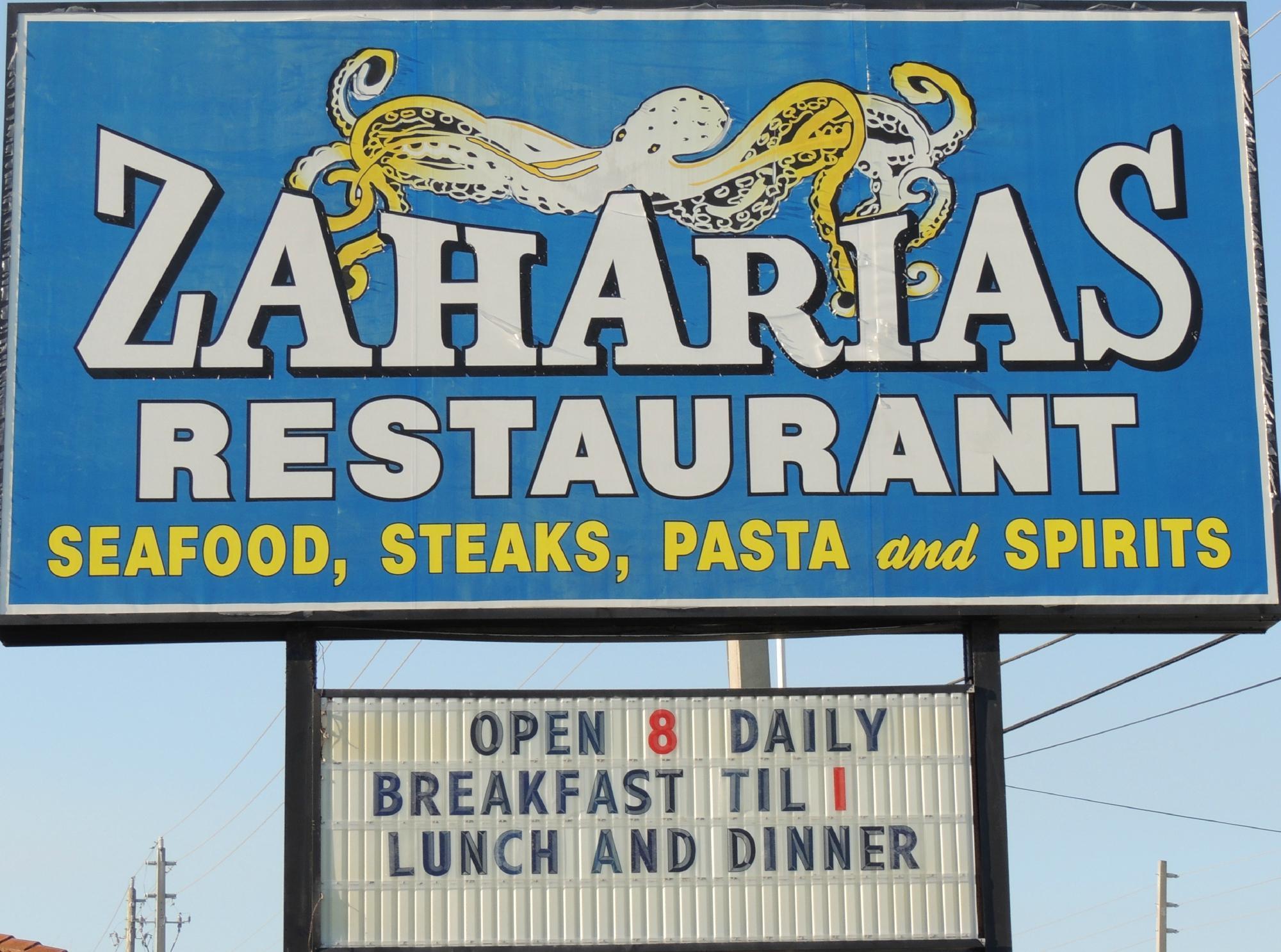 zaharias saint augustine beach menu prices restaurant