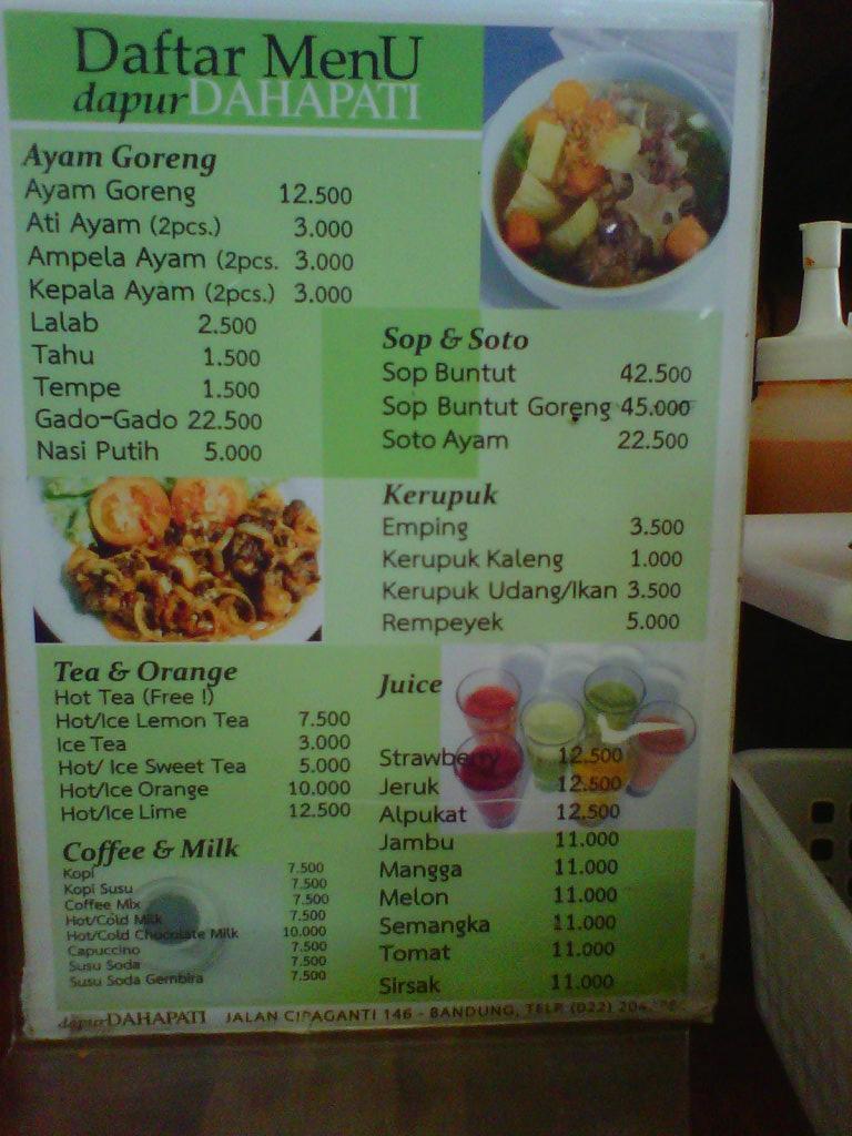 Dapur Dahapati Bandung Restaurant Reviews Phone Number Photos Tripadvisor