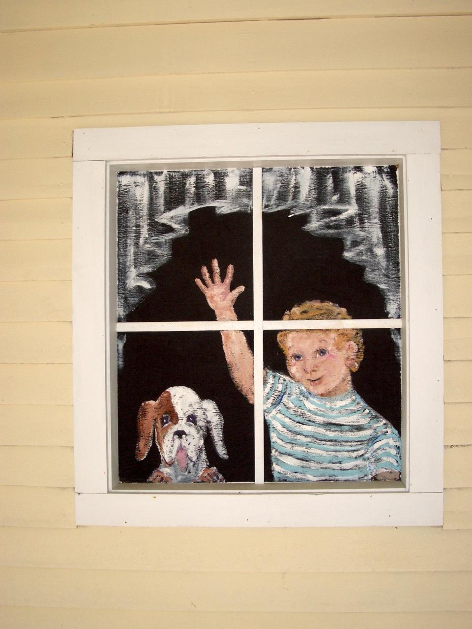 Warren Travel Center - Window Painting by Dotty Kyle
