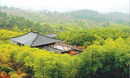 Huzhou Guzhu Mountain Jinsha Spring