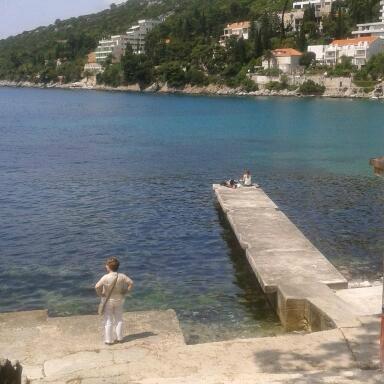 Beach opposite hotel