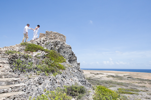 Aruba was named one of the most popular romantic destinations in the Caribbean.