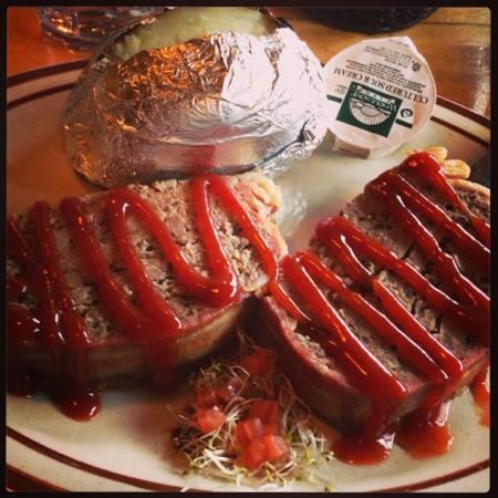 buffalo meat loaf and baked potato