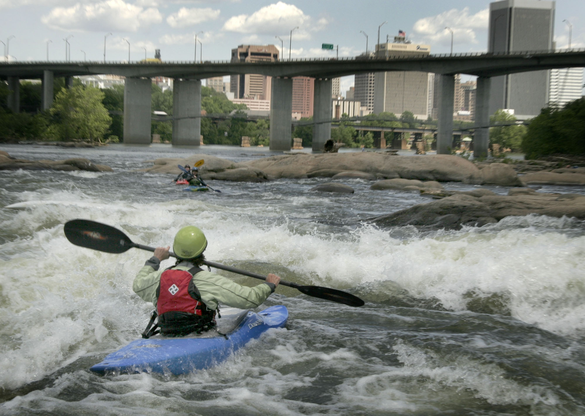 Kayaking on the James River