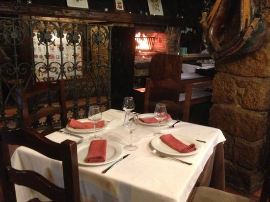 "Dining room where steaks are cooked ""a la brassa"""