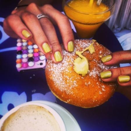 Best doughnut with pistachio cream ever!