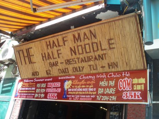 Half man half noodle