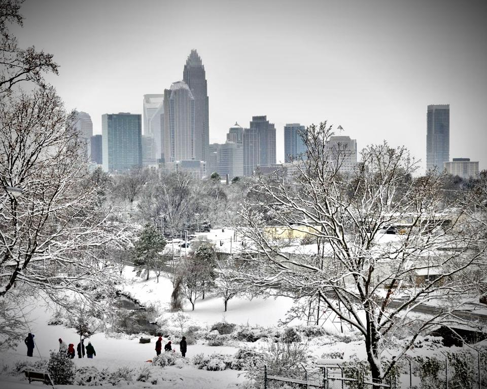 Charlotte covered in snow