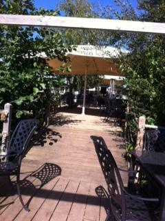 terrace back towards cafe