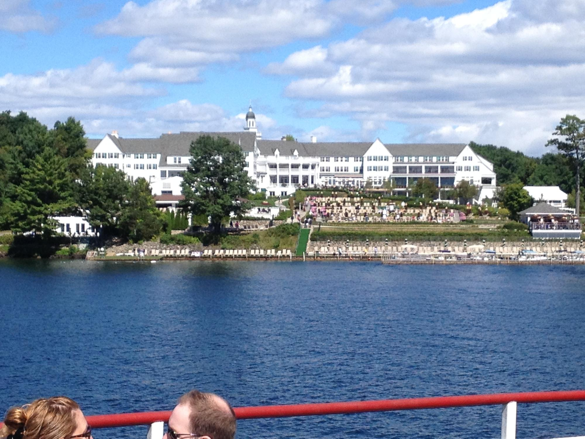 Sagamore Hotel in the middle of the lake