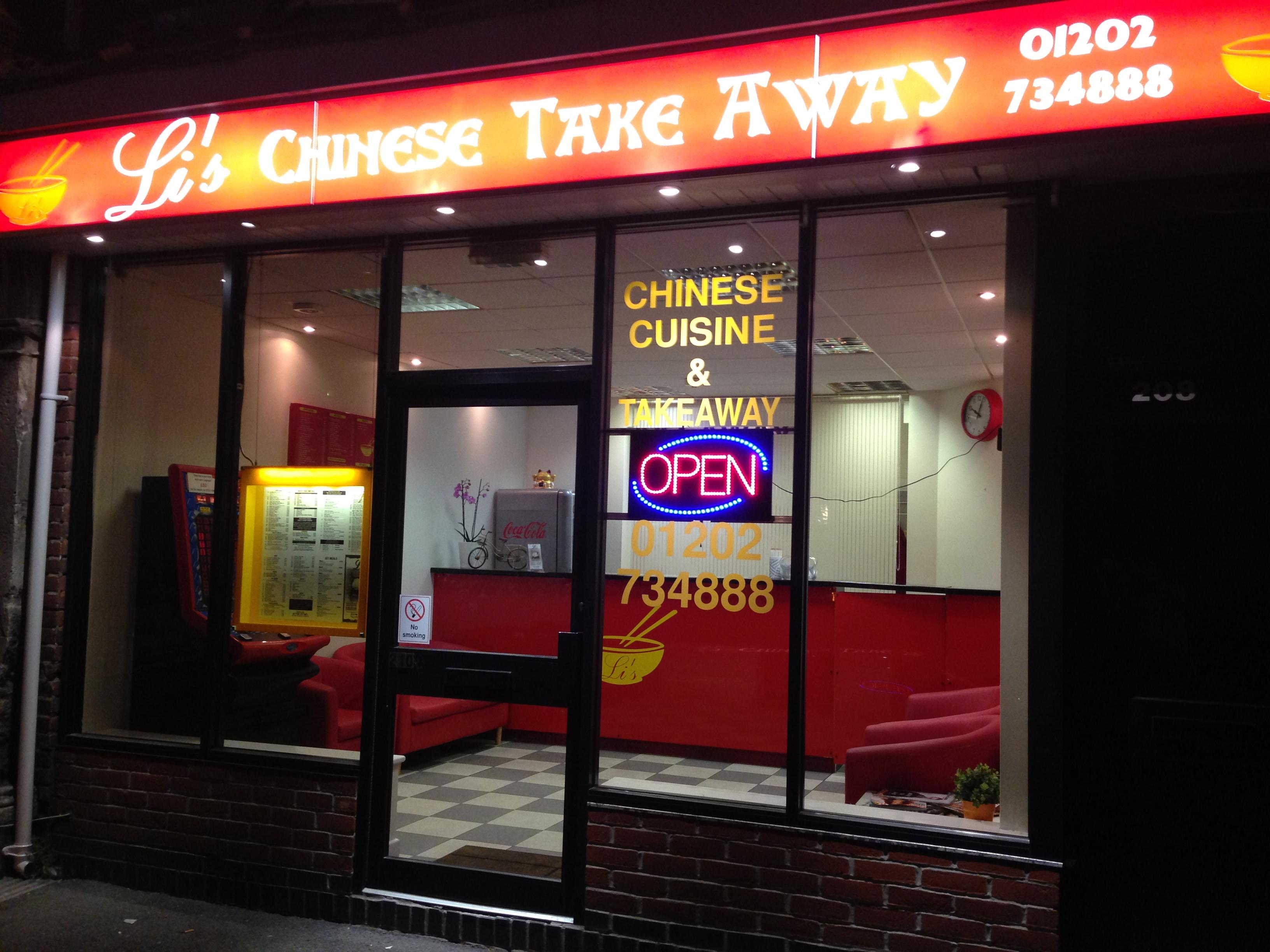 Li 39 s chinese takeaway poole restaurant reviews phone for C kitchen chinese takeaway restaurant