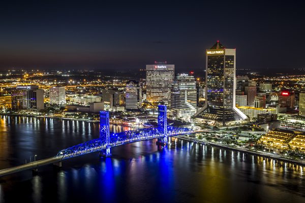The Jacksonville Skyline at Night