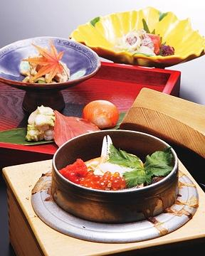 Japanese Cuisine Kamameshi Tanuki