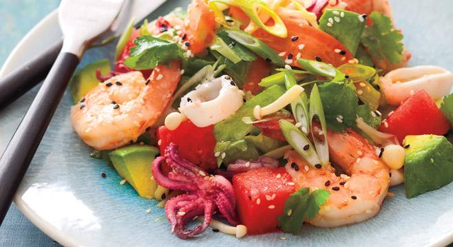 Салаты фото из морепродуктов