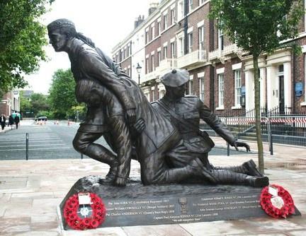 Noel Chavasse VC and Bar Memorial Statue