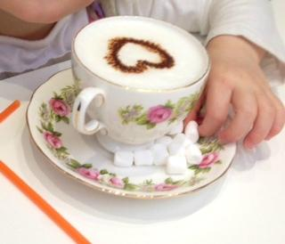 Beautiful warm milk.