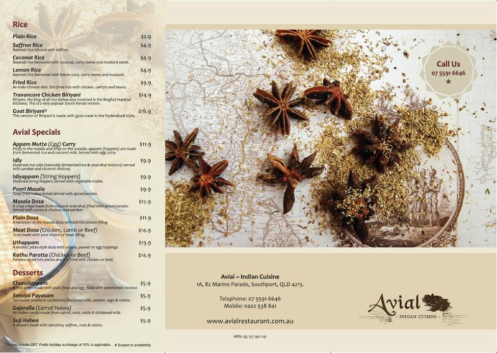 Avial indian cuisine for Avial indian cuisine