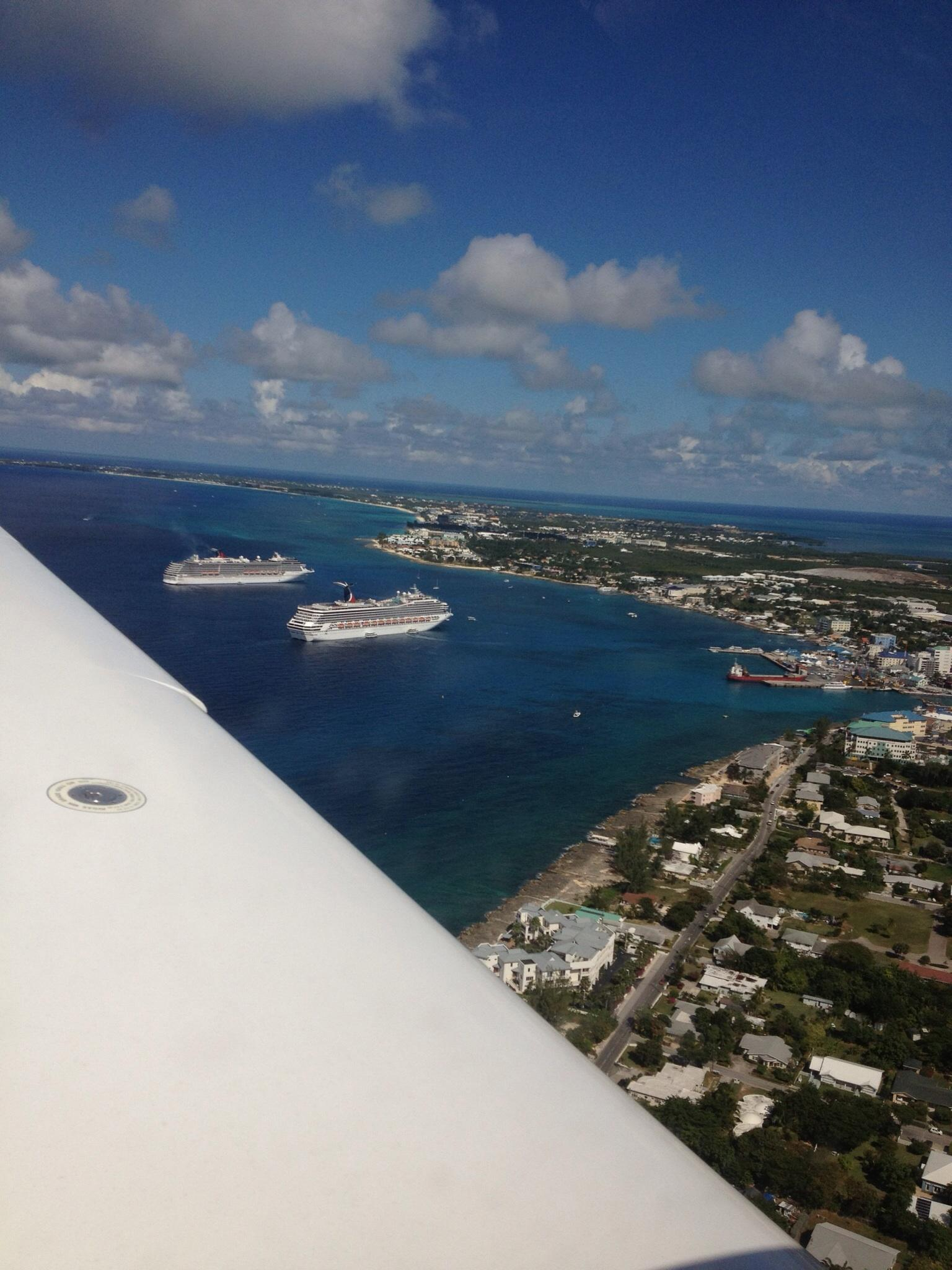 Aerial view of Grand Cayman