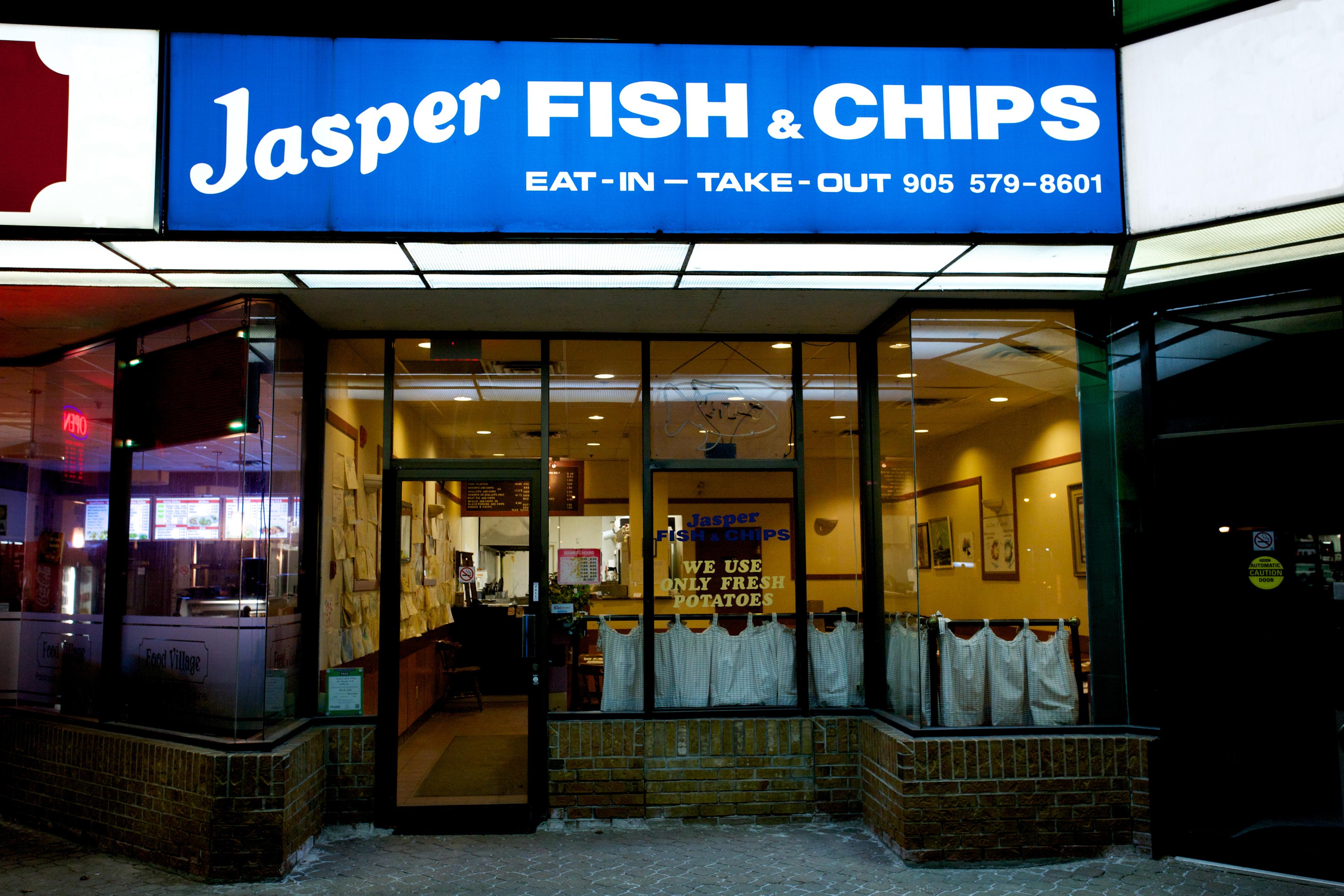 White apron menu oshawa - Jasper Fish Chips Whitby