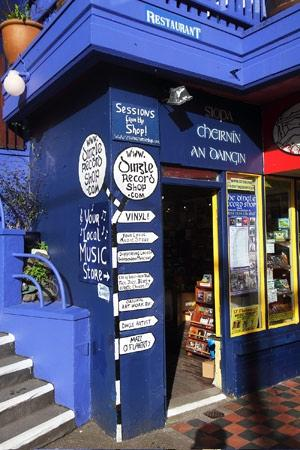Entrance to the Dingle Record Shop
