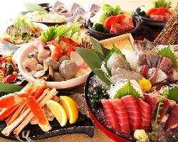 Seafood Izakaya Sandaime Amimoto Suisan Nishishinjuku
