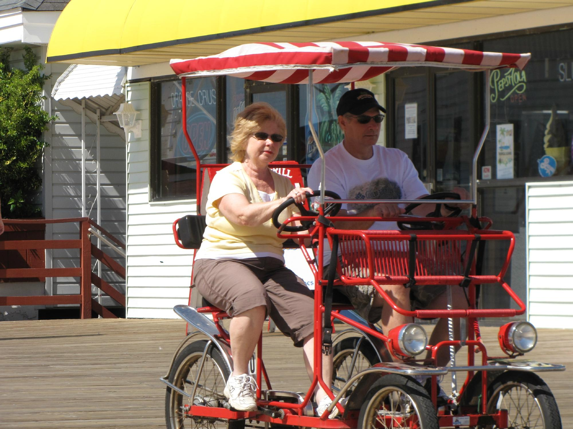 Renting a bike or surrey on the boardwalk is a must!
