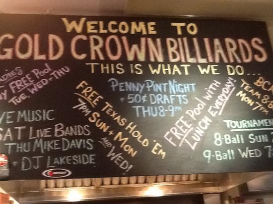 ‪Gold Crown Billiards Bar & Grill‬