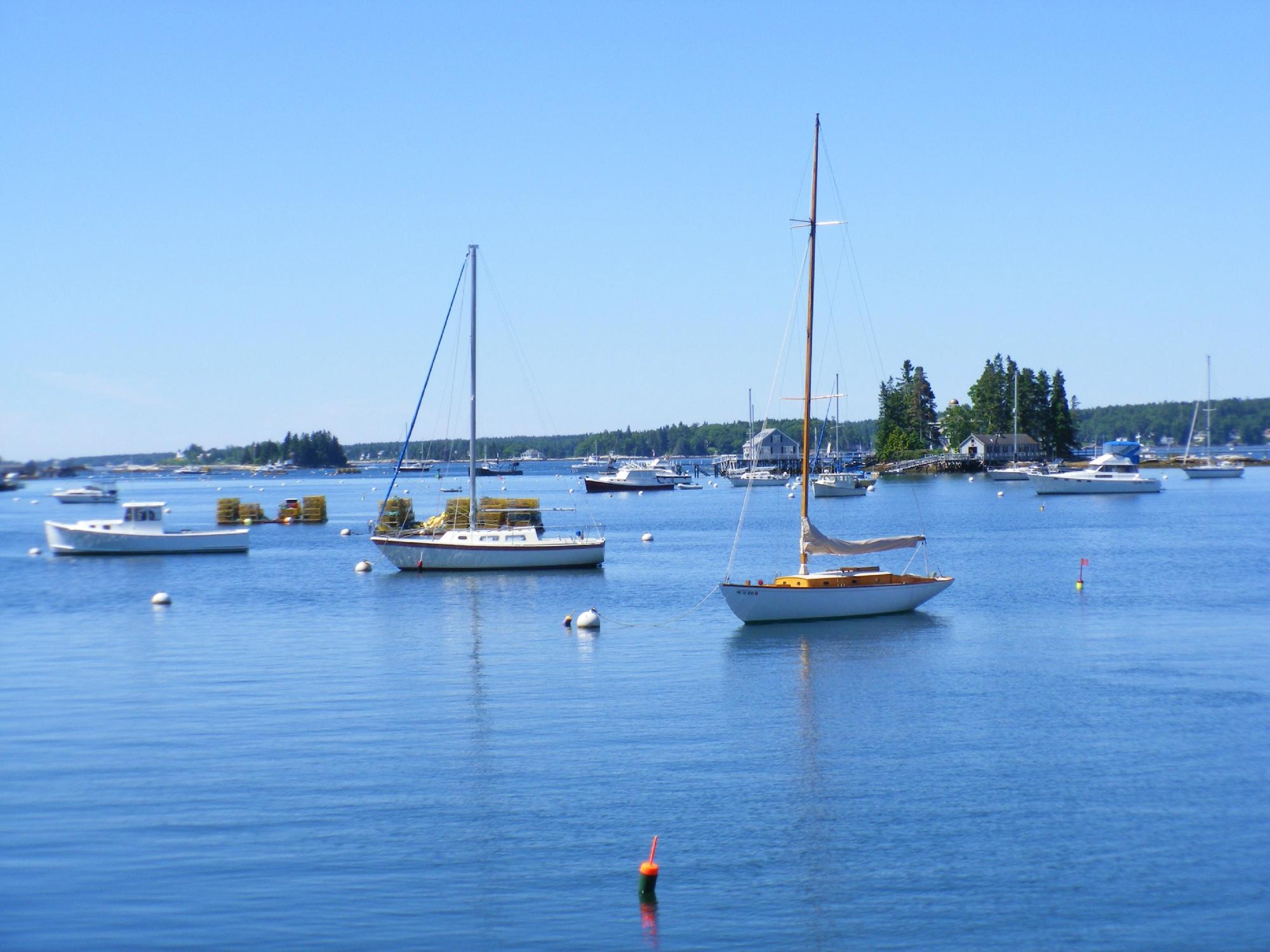 A Beautiful June Day At The Harbor.
