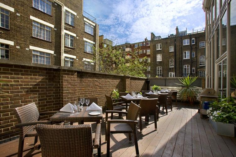 Woburn place london bloomsbury restaurant reviews for Bloomsbury hotel terrace