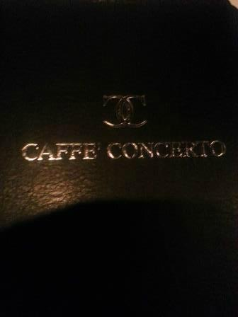 Caffe Concerto: The menu