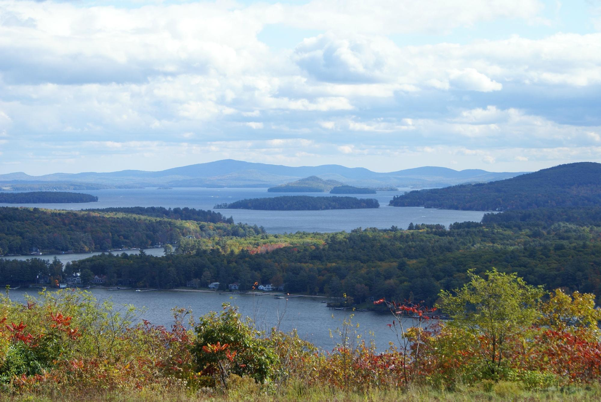 lake Winnipesaukee in fall
