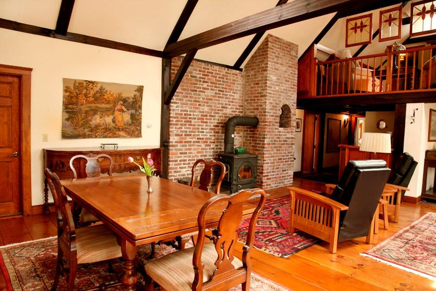 Inside the Inn, room to stretch out by the fire ~ Morning Glory inn